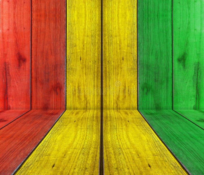Planche en bois avec le fond de reggae photos stock