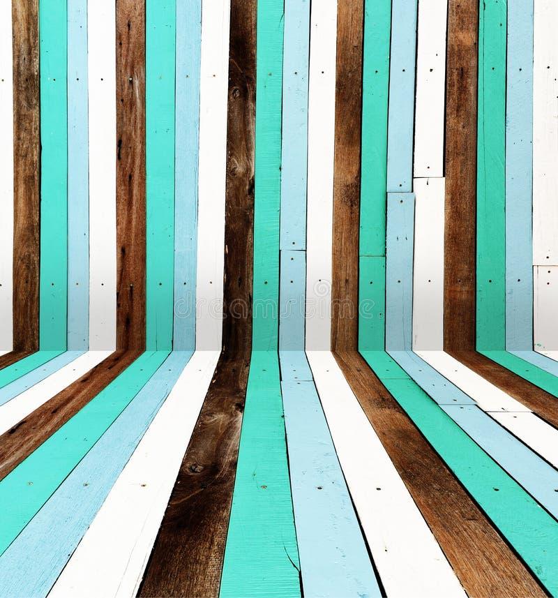 Planche en bois peinte comme fond image libre de droits