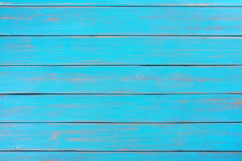 Planche extérieure en bois de fond d'été de plate-forme en bois bleue lumineuse de plage photos stock