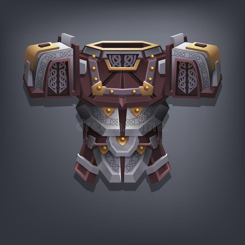 Planche la armadura del pecho de la fantasía para el juego o las tarjetas libre illustration