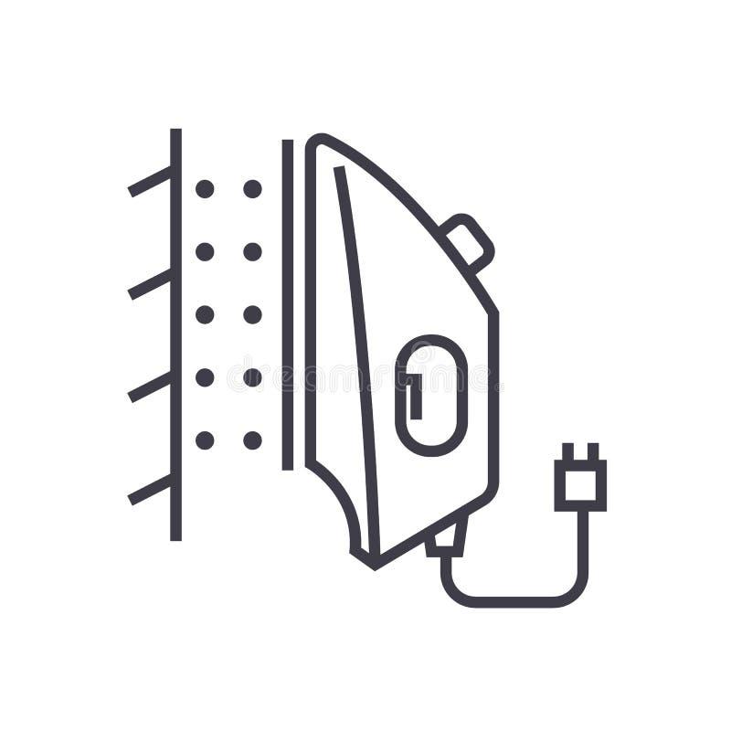 Planche la línea icono, muestra, ejemplo del vector del vapor en el fondo, movimientos editable libre illustration