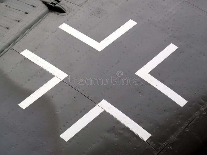Planche las insignias cruzadas imagen de archivo libre de regalías