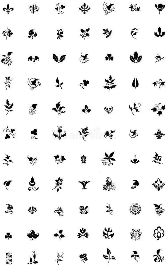 Planche-ornements-floraux-001 Free Public Domain Cc0 Image