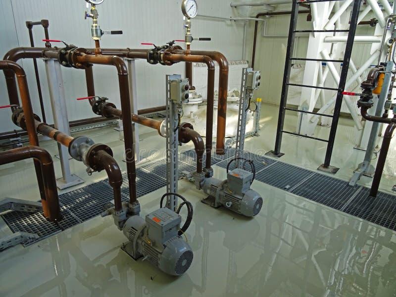 Plancher époxyde et installations industrielles photo stock