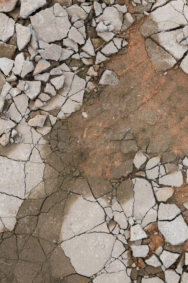 Plancher cassé de béton de ciment photo libre de droits