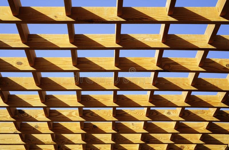 Plancher d'un toit en bois image stock