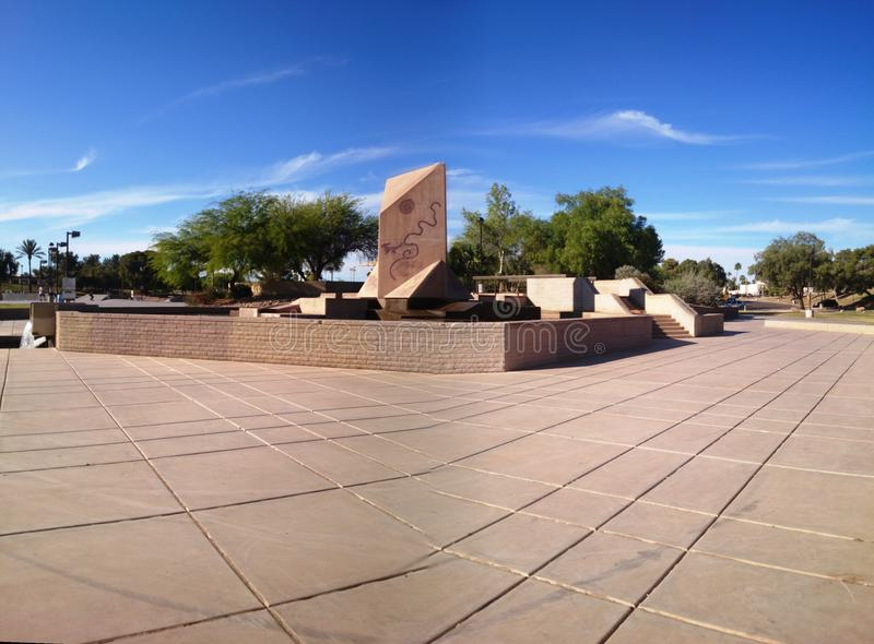 Plancher d'une rivière à Scottsdale Arizona images stock