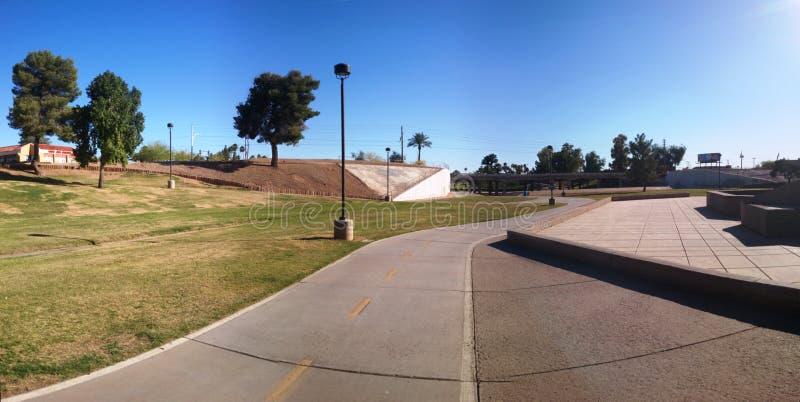 Plancher d'une rivière à Scottsdale Arizona image stock