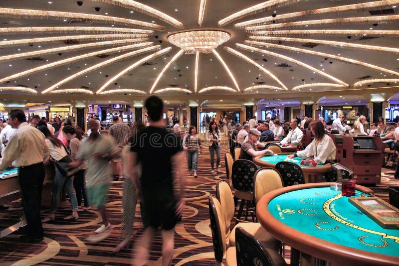 Plancher de casino de Las Vegas image stock