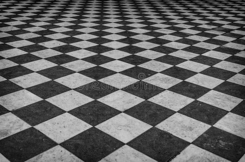 Plancher de marbre à carreaux noir et blanc images stock