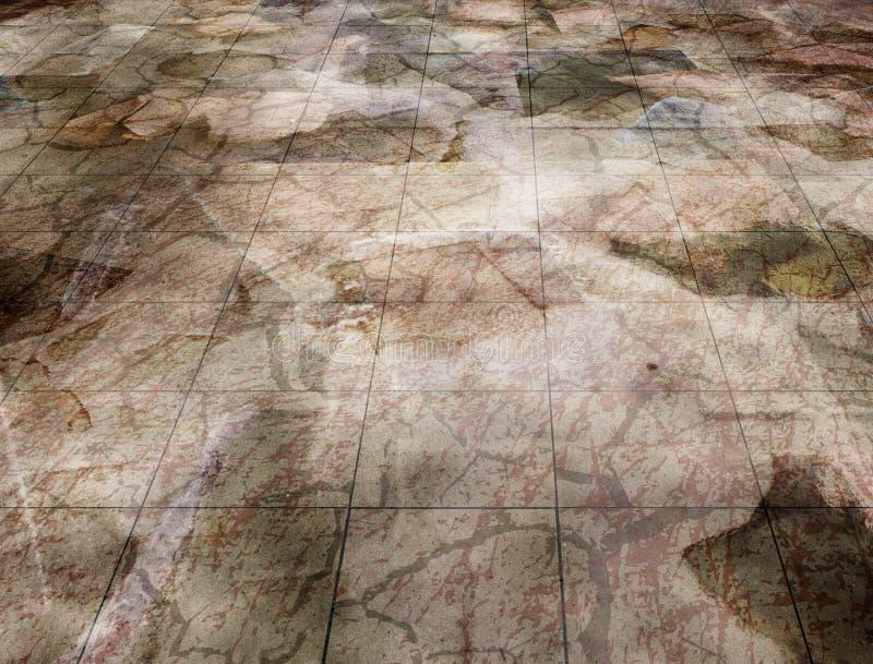 Plancher de marbre illustration libre de droits