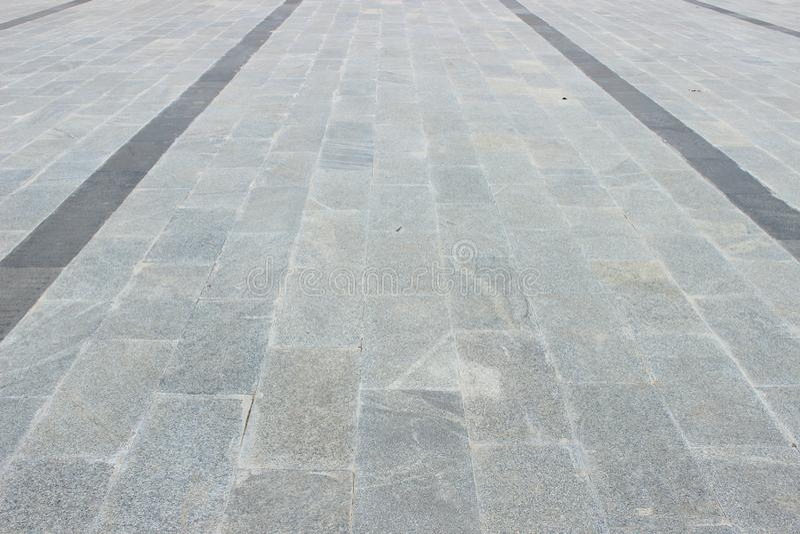 Plancher de marbre comme chemin de pied image libre de droits