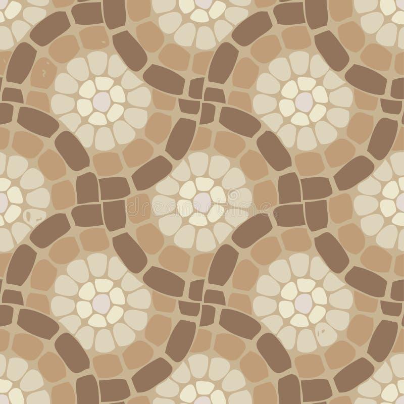 Plancher de mosaïque de tuile, modèle en pierre illustration stock