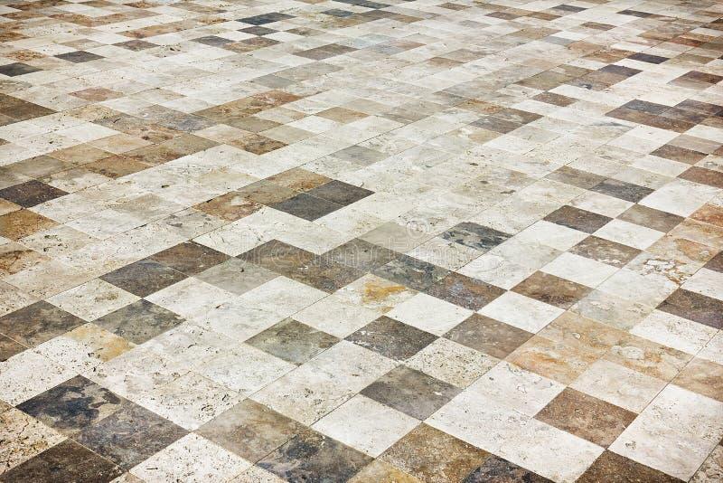 Plancher de tuiles en pierre photographie stock