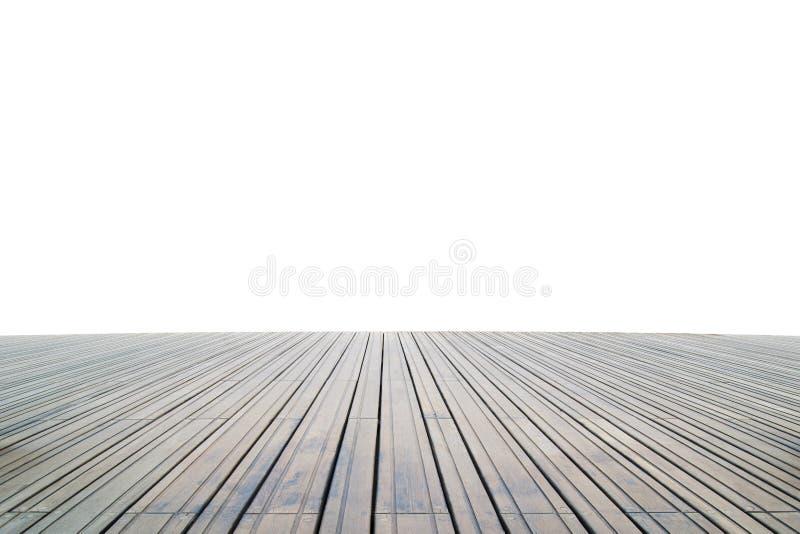 Plancher en bois d'isolement photo libre de droits