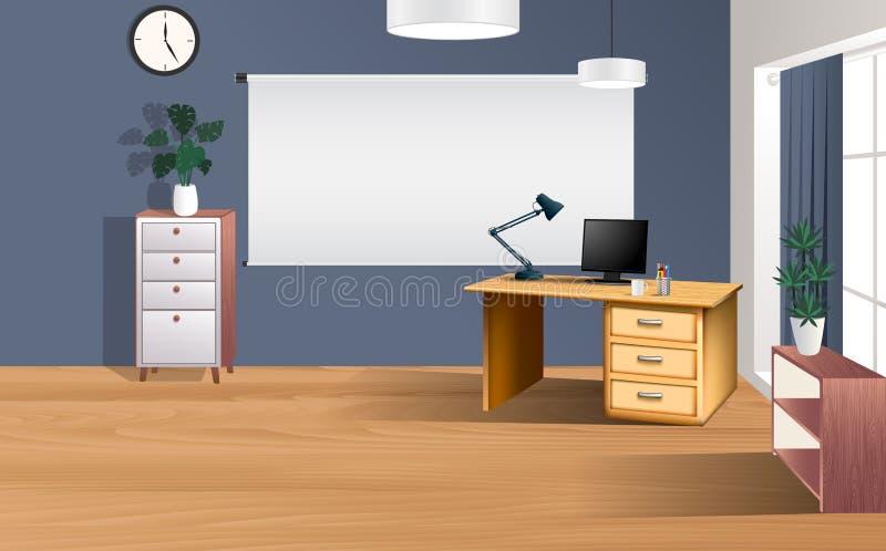 Plancher en bois dans la chambre illustration stock