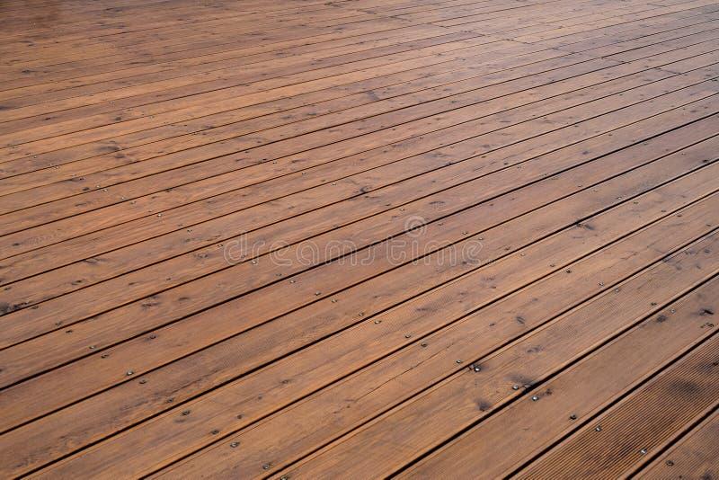 Plancher en bois extérieur naturel image libre de droits