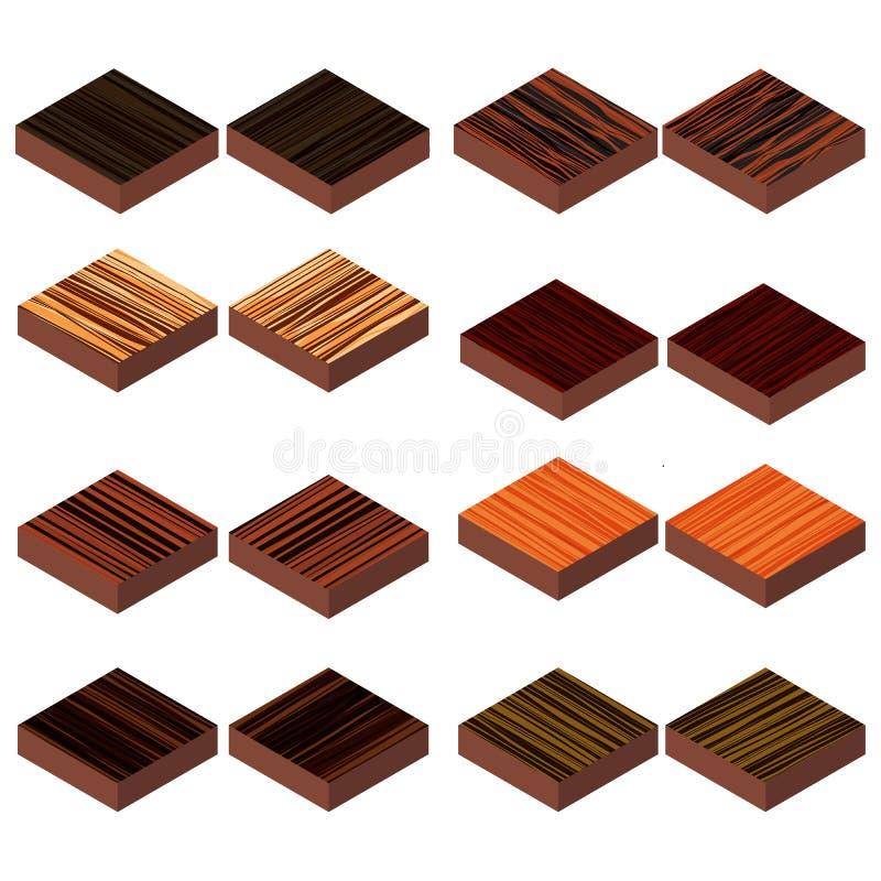 Plancher en bois isométrique illustration libre de droits