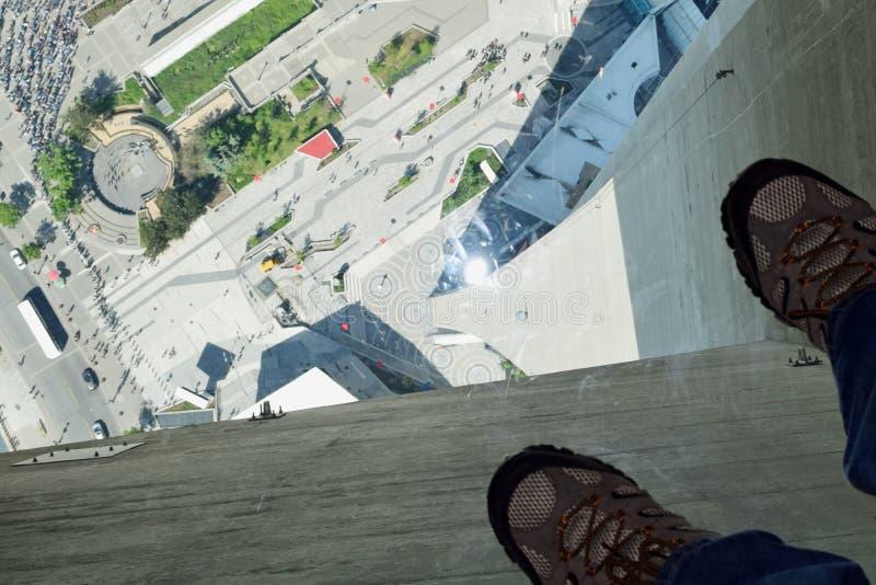 Plancher en verre, tour de NC, Toronto, Canada photo libre de droits