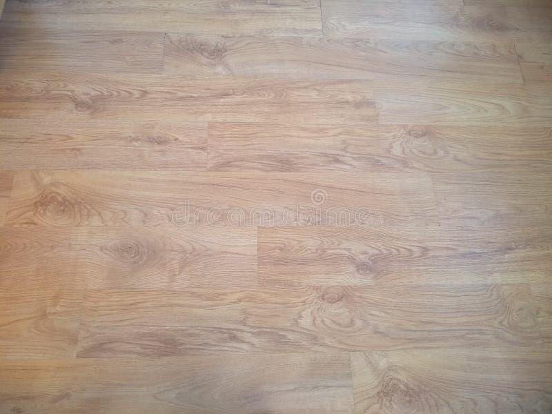 Plancher laqué en bois avec une texture en bois distincte photographie stock libre de droits