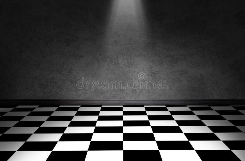 Plancher noir et blanc de contrôle images stock