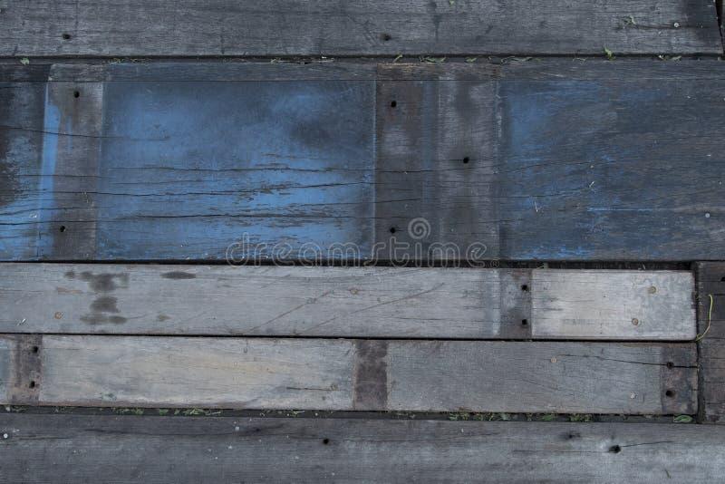 Plancher usé de planche avec différents types de conseils photos libres de droits