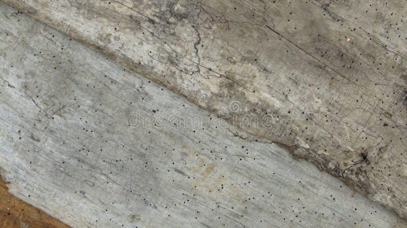 Planches criquées rayées de vieux plancher Vintage Grey Timber vermoulu par le ver de bois photo stock