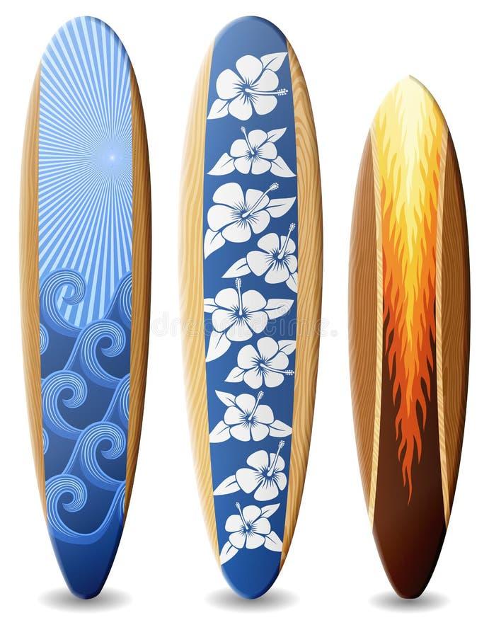 planches de surf en bois avec la conception illustration stock image 40693731. Black Bedroom Furniture Sets. Home Design Ideas