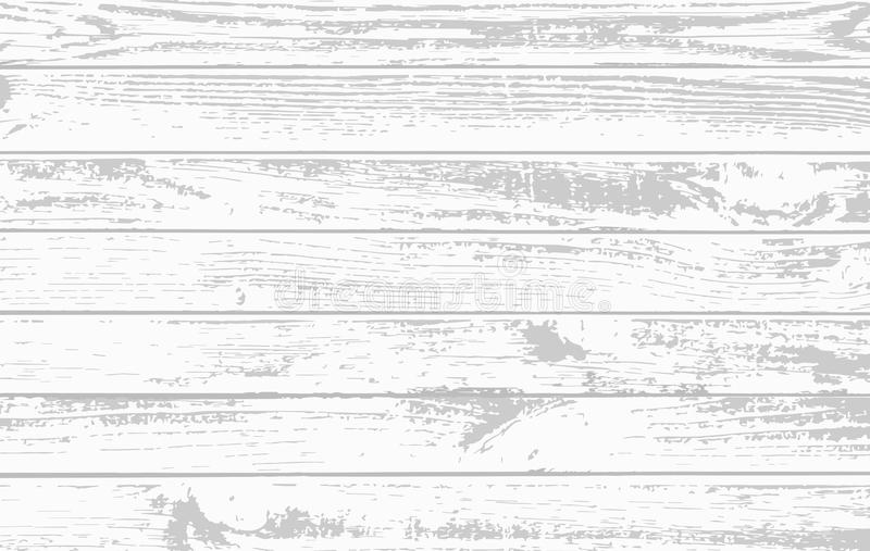 Planches en bois blanches, surface de plancher de table Coupure du hachoir Texture en bois Illustration de vecteur illustration stock