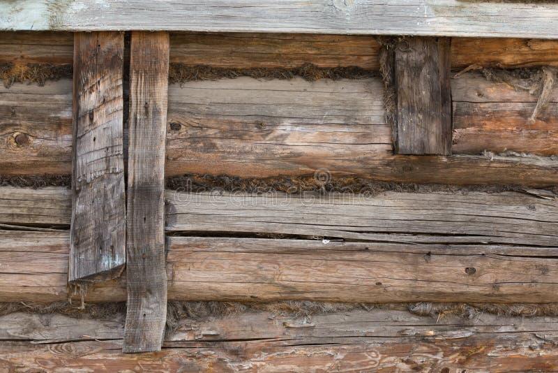 Planches en bois de fond de vieille maison, vieux bois traité photo libre de droits