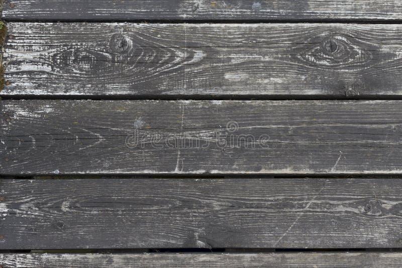 Planches en bois de texture de fond Vieux conseils gris grunges photo libre de droits