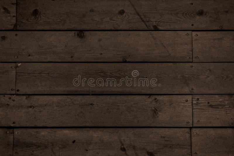 Planches en bois foncées photos libres de droits