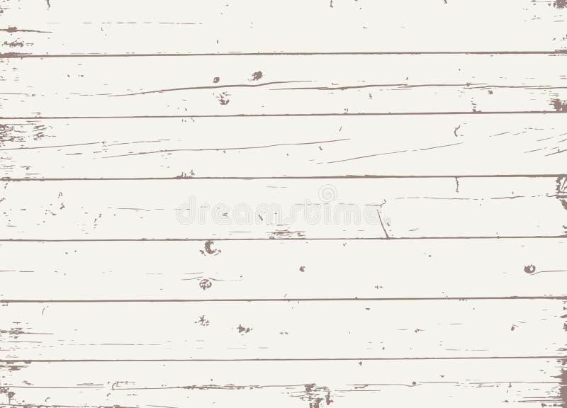 Planches ou mur en bois brun clair, table, surface de plancher Coupure du hachoir Texture en bois illustration de vecteur