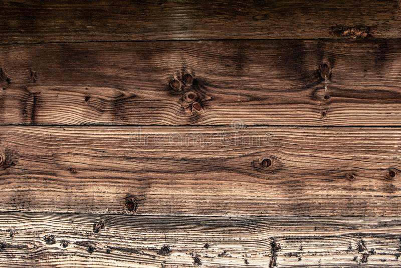 Planches texture et fond de mur de Brown Surface grunge en bois de vieux cru photos libres de droits