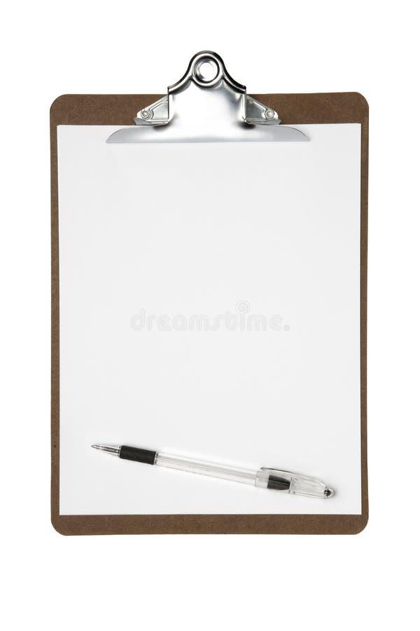 Planchette avec le crayon lecteur photo stock