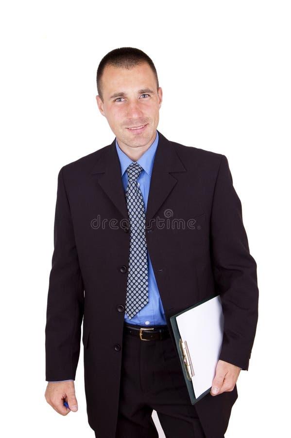 Planchette de fixation d'homme d'affaires photos stock