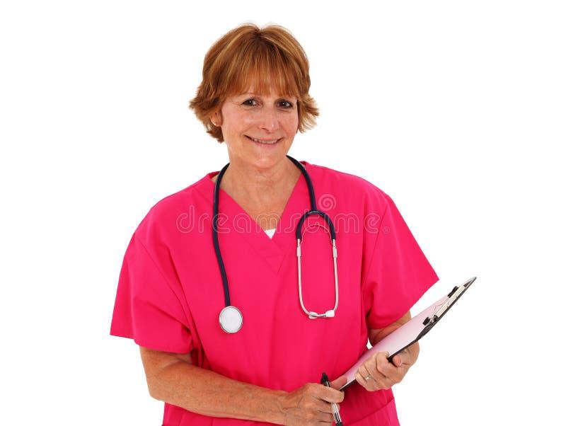 Planchette de fixation d'infirmière photos stock
