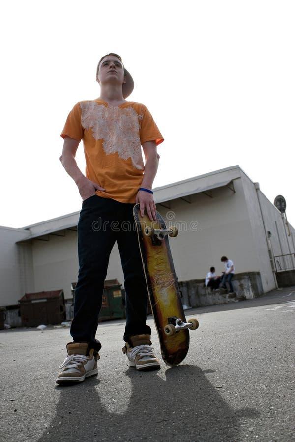 Planchiste d'adolescent images stock