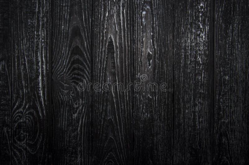 Plancia di legno Con struttura nera e struttura bianca fotografie stock