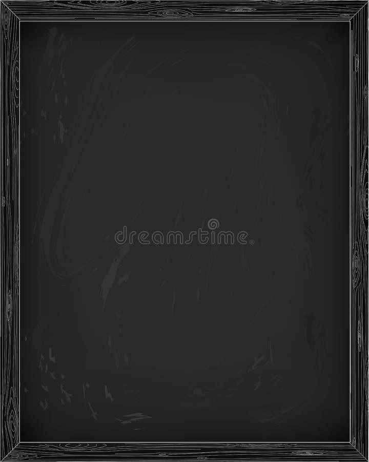 Plancia pulita della tela dello spazio in bianco del bordo di bacheca della lavagna della lavagna illustrazione di stock