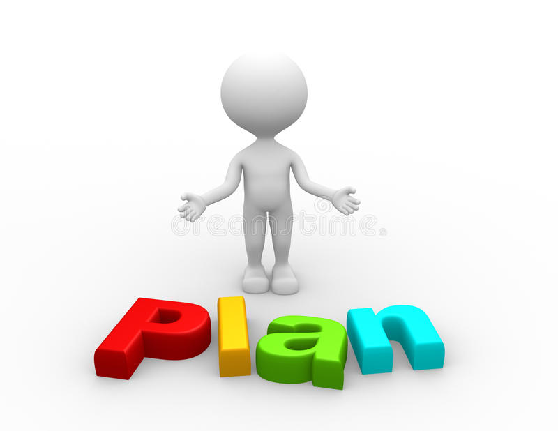Planconcept stock illustratie