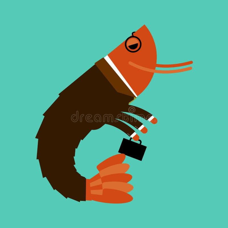 Plancton de la oficina aislado Animales marinos en traje de negocios Manag libre illustration