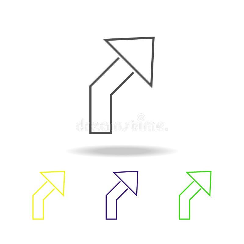 plandek strzałkowate stubarwne ikony Cienka kreskowa ikona dla strona internetowa projekta i app rozwoju Premia barwił sieci ikon royalty ilustracja
