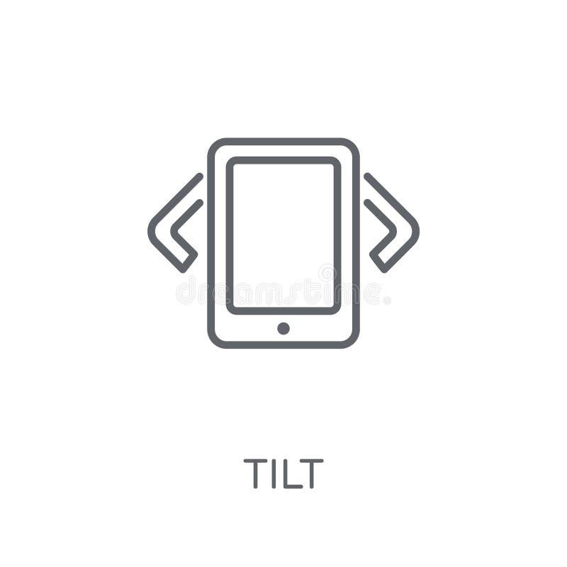 Plandeki liniowa ikona Nowożytny kontur plandeki logo pojęcie na bielu plecy ilustracji