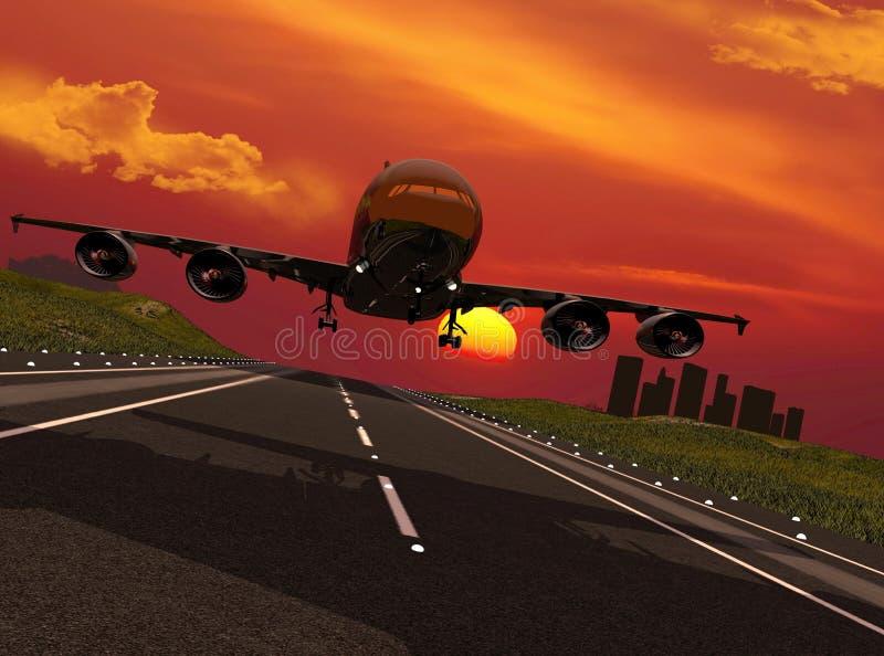 The plane royalty free illustration