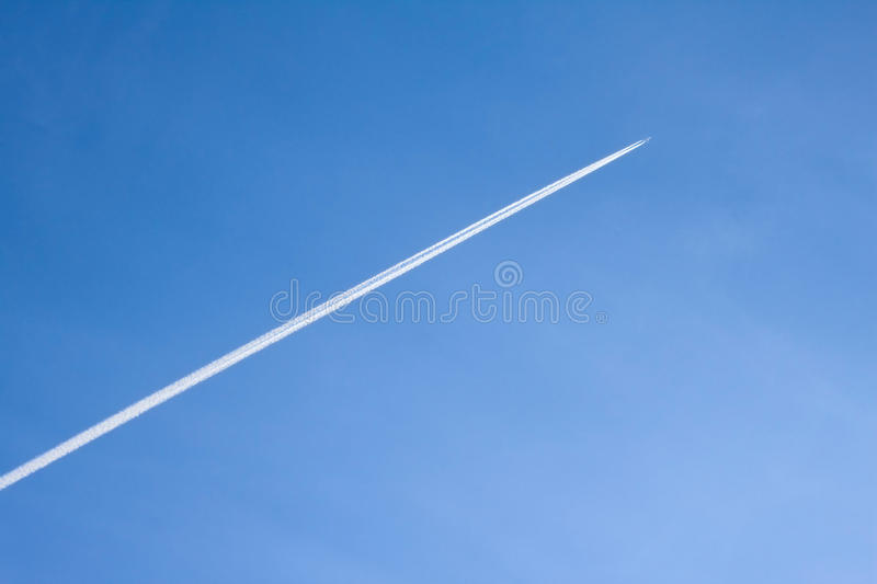 Download Plane stock image. Image of nature, trace, winter, highly - 12833977