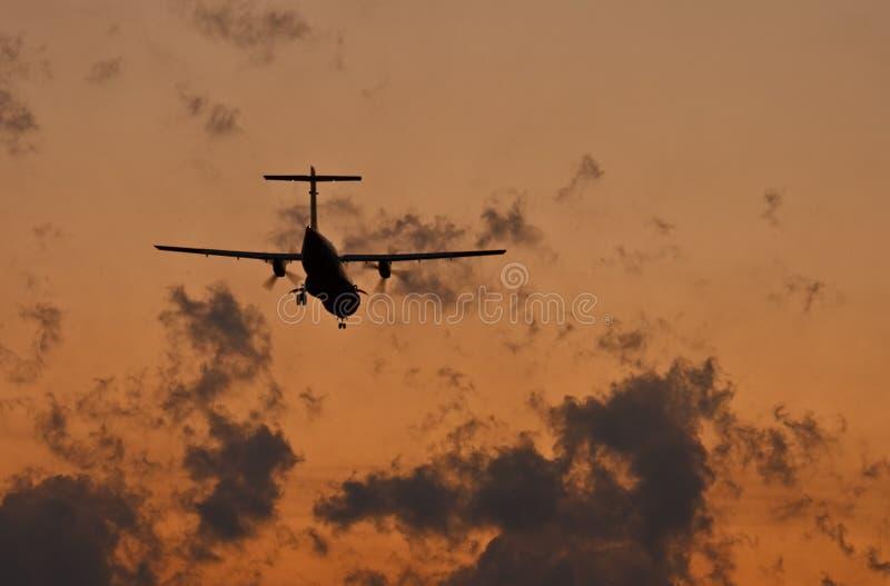 Download Plane stock image. Image of summer, scene, silhouette - 16700175