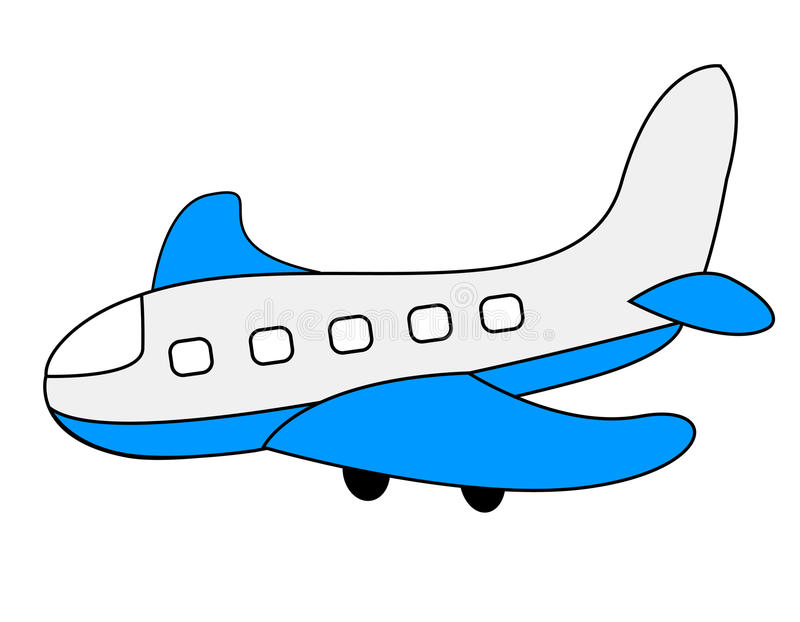 Plane. Illustration of a colorful plane isolated on white background