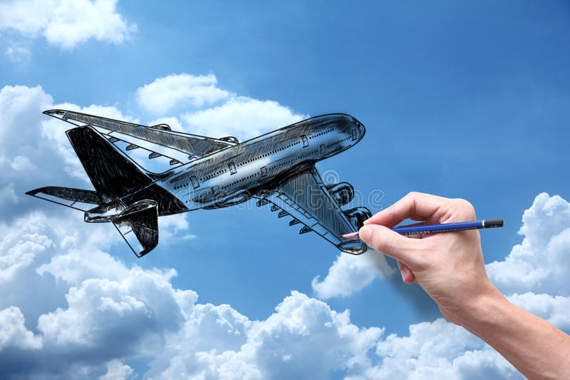 Download Plane stock image. Image of hand, stationery, plane, bright - 27331359
