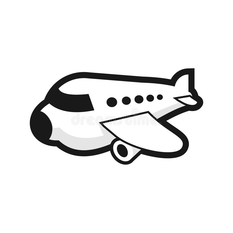 Download Plane stock vector. Image of isolated, illustration, flight - 3255658